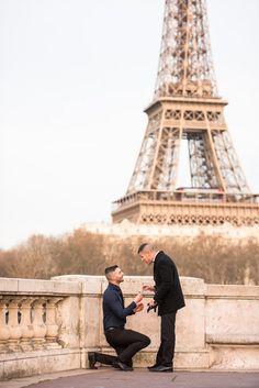 Sunset proposal in Paris