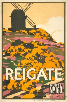 SURREY Reigate, by Fred Taylor, 1914 for Underground Electric Railways Company Ltd, 1914