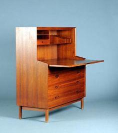 Danish Teak Bureau by Hvidt & Mølgaard   Design by Peter Hvidt and Orla Mølgaard.Vintage Danish Furniture Design.