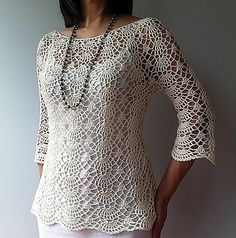 Ravelry: Ada - lacy shells top by Vicky Chan