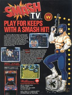 Smash T.V., found on Midway Arcade Origins on PS3 and X360.