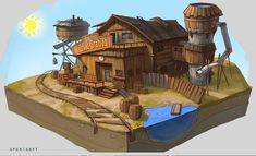 ArtStation - Wild West set, Sperasoft Studio