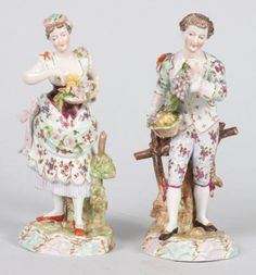 Pair of Richard Eckert & Co. porcelain figures Volkstedt, early 20th century