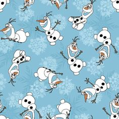 FROZEN OLAF SNOW FLAKES COTTON FABRIC FQ,1//2 METRE PER METRE SUPER FUN