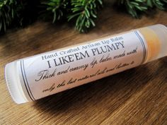 """""""I Like 'Em Plumpy"""" tingling, natural lip balm to puff up your lips - with cayenne pepper, who woulda thought?  Etsy.com Lip Plumping Balm, Diy Lip Balm, Natural Lip Balm, Lip Makeup, The Balm, Hair Beauty, Lips, Craft Ideas, Stuffed Peppers"""
