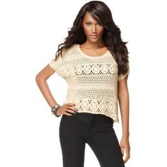 i so want a crocheted sweater like this!