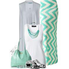 Chevron Maxi #Outfit