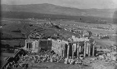 Robert Weir Schultz και Sidney Barnsley Αθήνα, τα Προπύλαια και άποψη του Αστεροσκοπίου 1889