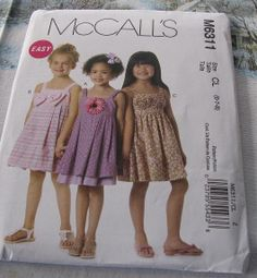 Girls Sundress Pattern 6311 New 50 off by stephaniesyarn on Etsy, $6.98