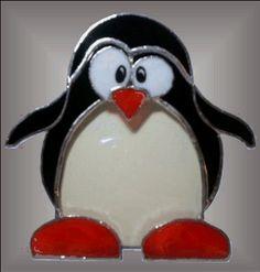 Cheryl Sept Stained Glass penguin