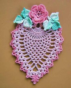 This unique set of mini doilies gives vintage-look crochet a trendy boho-chic twist, all in delightful miniature scale. You will find pineapples, butterflies, Irish roses, a charming little Crinoline Lady and an elegant paisley-shaped doily among the. Crochet Doily Rug, Crochet Dollies, Crochet Books, Crochet Stitches Patterns, Crochet Patterns For Beginners, Thread Crochet, Crochet Designs, Crochet Crafts, Crochet Flowers
