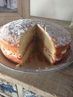 My 1st attempt at a Victoria sandwich. Delicious
