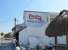 Ernesto's in Cozumel! A completely awesome hole-in-the-wall with seriously insanely, splendidly, amazingly delicious fajitas. Seriously. Delicious. Amazing.
