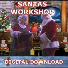 "SANTAS WORKSHOP DIGITAL DOWNLOAD - ""IN HIGH DEFINITION""    You are going to LOVE this Digital Download of Santa's Workshop!    Santa's Workshop will convince everyone that Santa's Workshop is in your home, There are many interactions with Santa, Mrs. Clause, Elves and his workshop.    SANTA'S WORKSHOP is a premiere product for window decoration or garage door projection.   Santa and Mrs Santa and Elves are in the North Pole in the Toy Factory and around Santas House.    EVERYONE IS GETTING…"