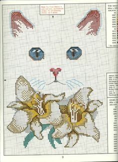 Cat Cross Stitches, Cross Stitching, Cross Stitch Embroidery, Cross Stitch Designs, Cross Stitch Patterns, Christmas Embroidery Patterns, C2c Crochet, Chart Design, Yarn Projects