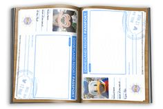 Totally unique autograph book - passport style book where each character signs their own page
