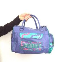 Puma vintage 80s #sports bag duffle purple retro #green pink bright mens #womens ,  View more on the LINK: http://www.zeppy.io/product/gb/2/282316813767/