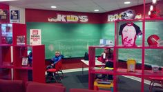 All ages of kids enjoy our well equipped KIDS ROOM. Chalk board, TV, and plenty of toys to go around