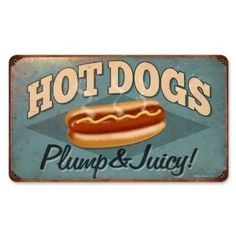 Hot Dogs Food and Drink Vintage Metal Sign - Victory Vintage Signs