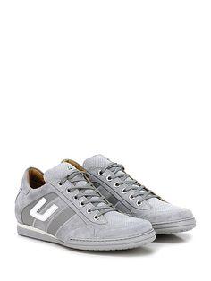 PACIOTTI 4US - Sneakers - Uomo - Sneaker in camoscio e tessuto con logo su lato esterno e suola in gomma. Tacco 25. - GREY