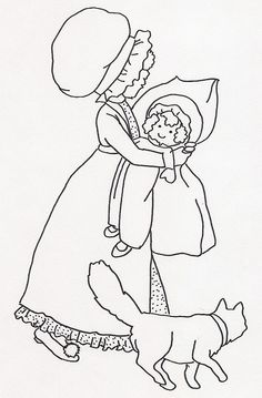 Girl w Doll and Cat