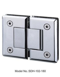 180 degree glass to glass shower door hinges satin and