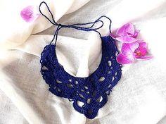 Zuy / Háčkované náhrdelník Modrák