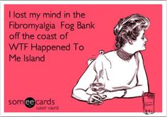 fibromyalgia meme: i lost my mind in the fibromyalgia fog bank off the coast of WTF happened to me island