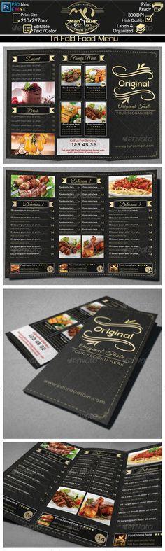 Restaurant+Food+Menu+Trifold