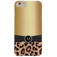 Modern Gold Monogram Leopard iPhone 6 Plus Case- This is an absolutely gorgeous iphone case!