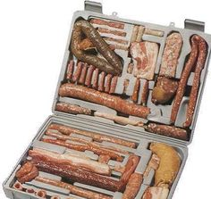 Sausage Tool Kit Because I care enough to only send the best ;P Sausage Tool Kit by terr-bo. Informations About Sausage Tool Kit Because I care enough to only s Carnicerias Ideas, Food Ideas, Sausage Party, Hot Chocolate Bars, Fresh Memes, Vintage Recipes, Vintage Food, Charcuterie, Tool Kit