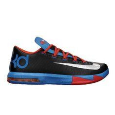 online store f7795 3fb9b Nike KD VI (Oklahoma City Thunder-Away) Black Metallic Silver-Team  Orange-Photo Blue (10)