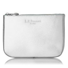 Silver cosmetic purse from L K Bennett £65