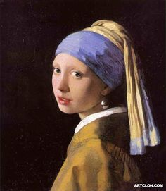 Johannes Vermeer Girl with a Pearl Earring 1665 Painting Reproduction On Artclon For Sale | Buy Art Reproductions Girl with a Pearl Earring 1665