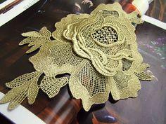 Gold Rose Applique 3D Luxury Rosette Applique for by lacetime, $5.99