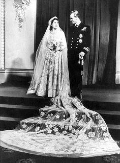 Wedding photograph November 20, 1947