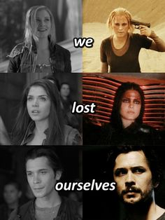 we lost ourselves The 100 season 5 Clarke Griffin Octavia Blake Bellamy Blake The 100 Show, The 100 Cast, It Cast, Bob Morley, Cw Series, Series Movies, The 100 Season 1, Lost Season 1, The 100 Poster