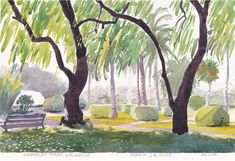 Shipping is free to North America, modest surcharge to elsewhere. Watercolour Paintings, Watercolor, Valencia Spain, White Paper, Paper Size, North America, Size 12, March, The Originals