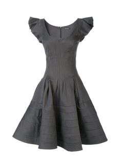 Zac Posen  Cap Sleeve Fit Flare Party Dress  - The sweetheart neckline of this elegant Zac Posen dress accentuates the shape of the fitted bodice, which falls into a flirty flared skirt. Lined.