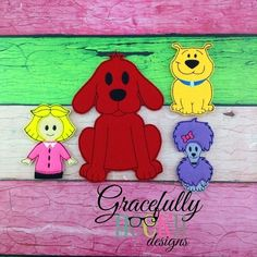 Big Red Dog Finger Puppet Embroidery Design - 4x4 Hoop or Larger