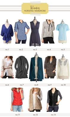 Figuring out what to wear in the winter while nursing is a bit more complicated. These are some great ideas!