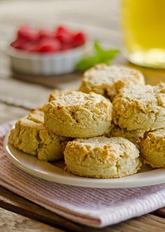 Easy Paleo Biscuits - Quick and easy gluten-free, dairy-free paleo biscuits recipe uses just one bowl. I skip the rolling out and just drop them on the cookie sheet. | cookeatpaleo.com