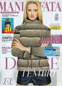 Mani di fata Settembre 2015 - 轻描淡写 - 轻描淡写 Knitting Magazine, Crochet Magazine, Knitting Books, Arm Warmers, Knitting Patterns, Knit Crochet, Album, Sewing, Magazines