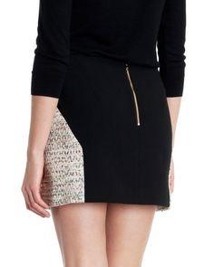 JACQUI - Jaquard mini skirt - Gold | Womens | Ted Baker UK