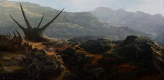 exploring 4 by sangvine on DeviantArt The texturing of mountains/ground is very well done.