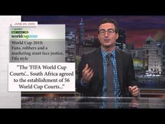 Last Week Tonight with John Oliver (HBO): FIFA and the World Cup. The Organized Religion of the Church of FIFA? While this video is satire, it is also scarcely true.The comparisons to organize religion are quite funny. John Oliver, World Cup 2014, Fifa World Cup, Last Week Tonight, The Daily Show, Another World, New Week, Sports Humor, Hilarious