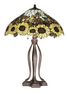 "Meyda 47592 - 30""H Wild Sunflower Table Lamp"