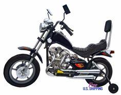 Kids Ride-On Battery Powered Motorcycle Bike Wheels Chopper Toy Harley Virago