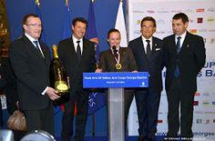 Jean Michel Trohay - Christian Estrosi (ancien ministre et Député Maire de Nice) - Diane Branch (Gagnante 2014) - Pierre Bord (DG Negresco) - Franck Languille (Pdt Georges Baptiste)