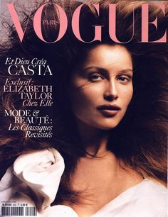 Film and the covers of Vogue Paris: Laetitia Casta on the September 2004 cover of Vogue Paris